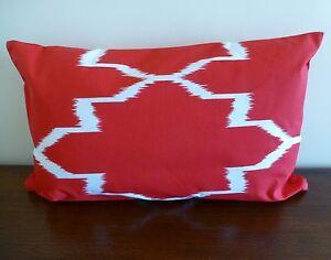 Unikko Red Rectangular Cushion Cover lumbar support 30 x 50