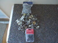 "Mixed Lot Of Over 1 1/4 lbs Of "" NOS "" And Used Electrical Clamps,etc."