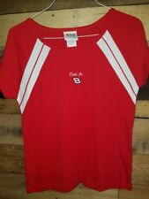 Red short Sleeve Budweiser Dale Jr #8 NASCAR racing Woman's T-Shirt Large New