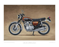 Motorcycle Limited Edition Print - Honda CB500 Four - Classic Bike Poster 1970s