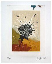Gravure etching signée numérotée de Georges DUSSAU ciel d'eau 1980 *