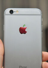 3x3D Domed Apple Natural logo stickers for iPhone back logo. Size 15,5x12,6 mm.