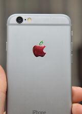 3x3D abovedado Apple adhesivos con el logotipo natural para iPhone en la espalda. tamaño 15,5x12,6 mm.