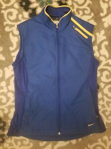 Nike Sphere Pro Vest Athletic Jacket Womens Zip Blue Sz L 12-14