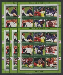 W464. 5x Guinea-Bissau - MNH - Sports - Football - 2001