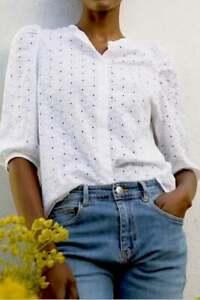 Baukjen Womens White Evangeline Blouse - Size UK8
