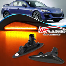 Smoked Led Side Marker Lights For 2016- Mazda MX-5 MX-6 09-12 RX8 Nissan Lafesta