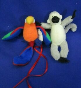 NABCO VanderBear Muffy Accessories Clothesline Rainforest Animals Monkey Parrot