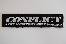 "Conflict Cloth Patch Sew On Badge Punk Rock Icons Of Filth Approx 7""X1.5"" (CP79)"