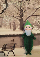 GREEN GNOME Vintage Style Chenille Christmas Ornaments - Set of 3