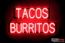 SpellBrite Ultra-Bright TACOS BURRITOS Sign Neon look LED performance