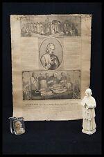 † ST JOHN MARY BAPTIST VIANNEY LOT 1 PAPER + 1 KEYRING + 1 STATUE CURE OF ARS †