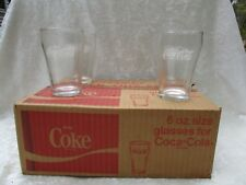 Vintage Set of 12 Small Coco-Cola 6 oz. Drinking Glasses in the Box