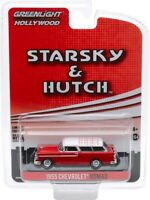 "1955 CHEVROLET NOMAD RED ""STARSKY & HUTCH"" 1/64 DIECAST CAR GREENLIGHT 44855 A"