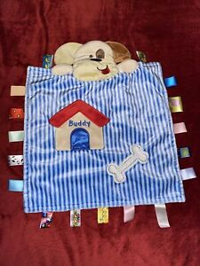 Taggies Buddy Puppy Dog House Lovey Security Blanket Stuffed Soft Baby Toy