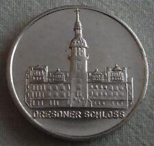 Medaille der DDR - Dresdner Schloss 1989 mit der Mark Meissen