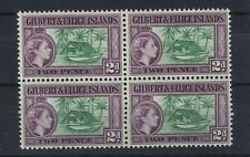 GILBERT & ELLICE IS 1956-62 DEFS SG66a BLOCK OF 4 MNH