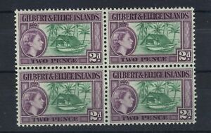 GILBERT & ELLICE ISLANDS 1956-62 DEFINITIVES SG66a BLOCK OF 4 MNH