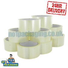 144 Rolls - Strong Clear 48mm X 50m (2 Inch) Parcel Tape Packing Packaging Tape