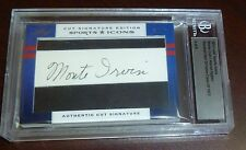Warren Spahn & Monte Irvin Signed 2012 Leaf Sports Icons HOF Card #4/8 Auto 1973