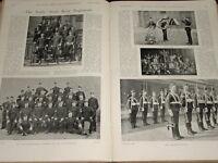 1899 The Buffs East Kent Regimiento 2ND Batt NCO Oficiales Mess Placa Maxim Det