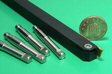 R/H Tornio Tornitura Strumento 0808 GAMBO 8mm + 10 x 1.1mm Wide rivestito inserti