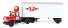 1ST FIRST GEAR 60-0255 'APA TRANSPORT' MACK R WITH PUP TRAILER *NEW* (OS)