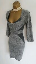 Jane Norman grey Super sexy smart office work business bodycon dress 12