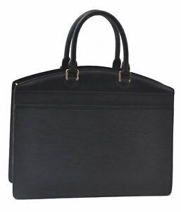 Authentic Louis Vuitton Epi Riviera Black Hand Bag M48182 LV C6305