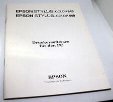 Buch (Heft) Epson STYLUS Color 640 - Druckersoftware für den PC - Anleitung