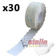 30 ROTOLI ETICHETTE ADESIVE PREZZI 26x12 mm PER PREZZATRICE COLORE BIANCO