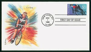 MayfairStamps US FDC Unsealed 1996 Cycling Edken First Day Cover wwp68191