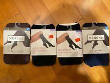 2 Merona Sheer to Waist (Blue/Purp). 2 Xhilaration Knee-High Black One Size.