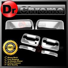 04-08 Ford F150 Chrome Top Half Mirror+2 Door Handle+no keypad PSG keyhole Cover