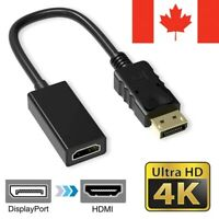 Displayport (DP) Male to HDMI Female Video Cable Converter Adapter 4K Resolution
