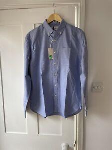 Boden Menswear Medium Blue Oxford Shirt, New