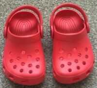 Boys/Girls Red Crocs Shoes Infant Size 4/5 Summer Beach Holiday Shoes SB6