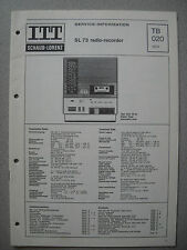 ITT/Schaub Lorenz SL 73 Radio-Recorder Service Manual, TB020