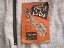 1954 Craftsman The Wood Lathe Hand Book Manual