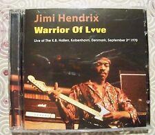"JIMI HENDRIX ""WARRIOR OF LOVE"" RARE LIVE DOUBLE CD KOBENHAVN KB HALLEN SEPT 1970"