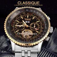 Armbanduhr automatisch von Luxus Wirbel Jaragar Original Top Marke Herren