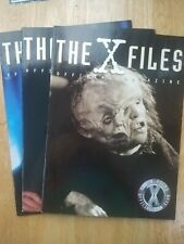 Vintage Official X-Files Magazine Lot of 3~Science Fiction Television Magazines