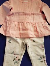 Newborn baby girl 2 pc Carter's pant and dressy top