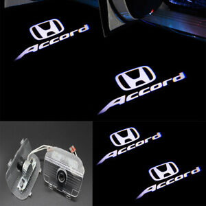 2x 3D Car Door LED Ghost Logo Projector Puddle Lights For Honda Accord 2013-2020