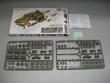 Tamiya 1/35 Allied Vehicle Accessory Set ***MISSING THREE STEEL DRUMS***