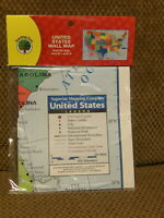 """NEW Large 40"""" x 28"""" United States Wall MAP Perfect Teaching Tool Learn States"""