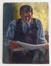 Samuel Brecher  (1897 - 1982) American  portray of Paul reading circa 1940s