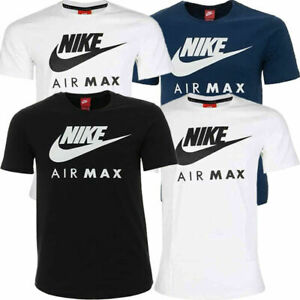 Nike Air Max Mens Sports T-Shirt Athletic Crew neck Short Sleeve Cotton