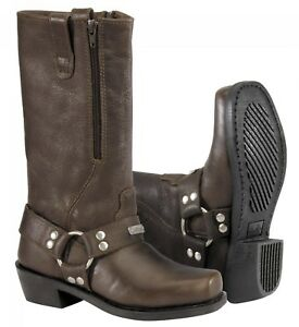 NOS RIVER ROAD 098323 ZIPPER HARNESS BOOTS BROWN SIZE WOMENS 7
