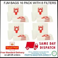 FITS MIELE VACUUM CLEANER C2 C1 COMPACT COMPLETE FJM x 16 DUST BAGS & 8 FILTERS